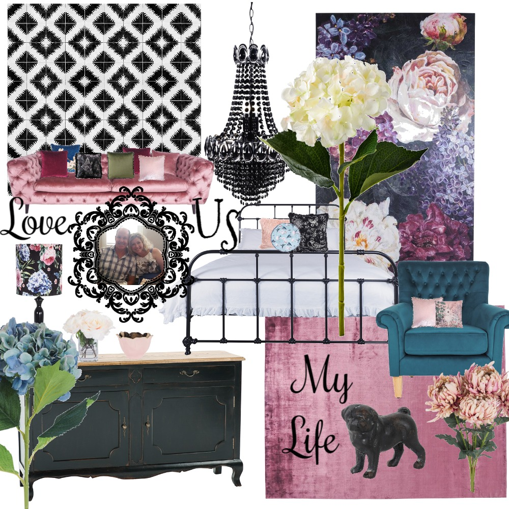 Bold and Glam Interior Design Mood Board by MelDee on Style Sourcebook