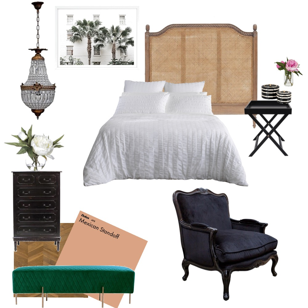 Bedroom Rattan Interior Design Mood Board by oliviamillane on Style Sourcebook