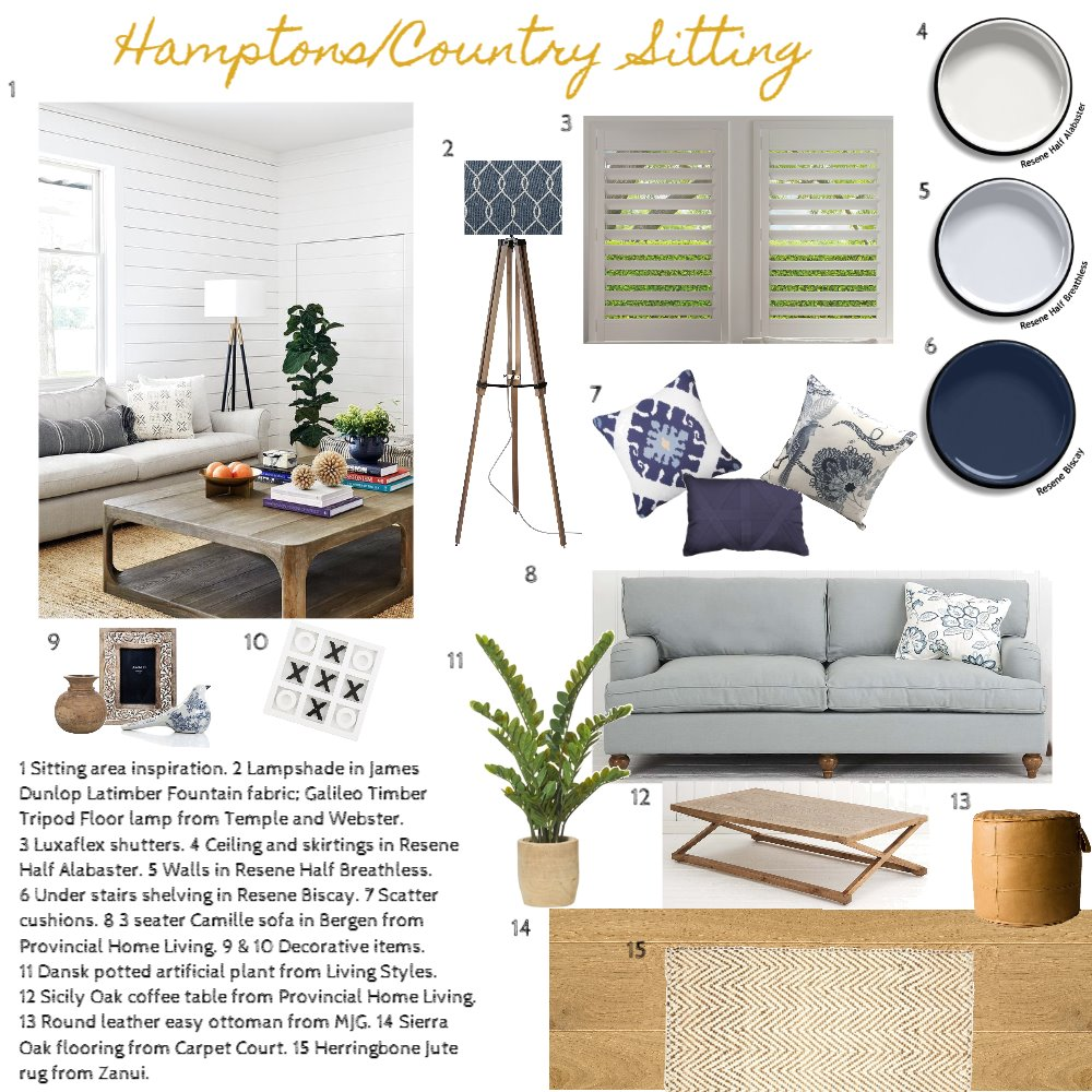 Casual Living area Interior Design Mood Board by Lisshayes on Style Sourcebook