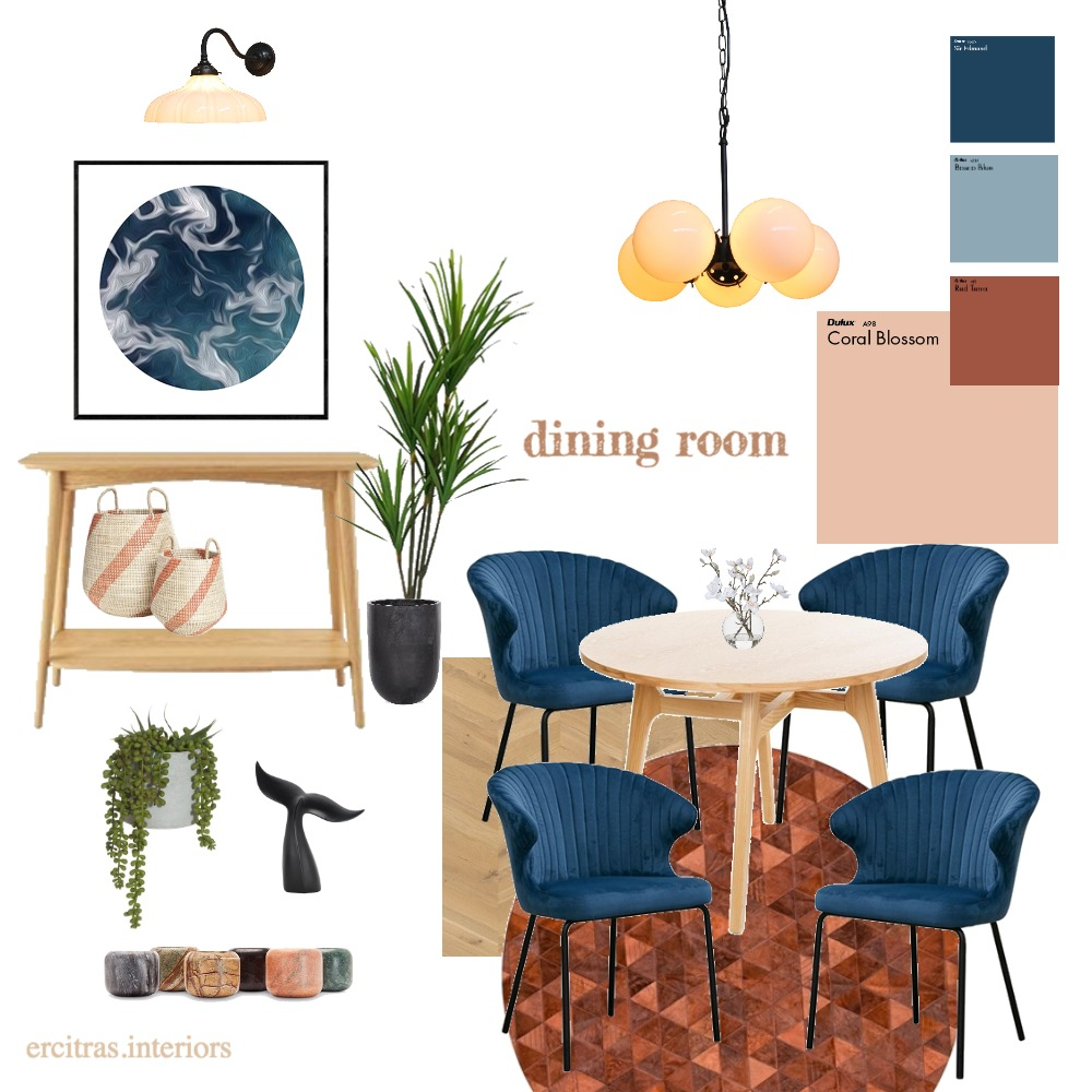 The Smith's Dining Room Interior Design Mood Board by ecs22 on Style Sourcebook