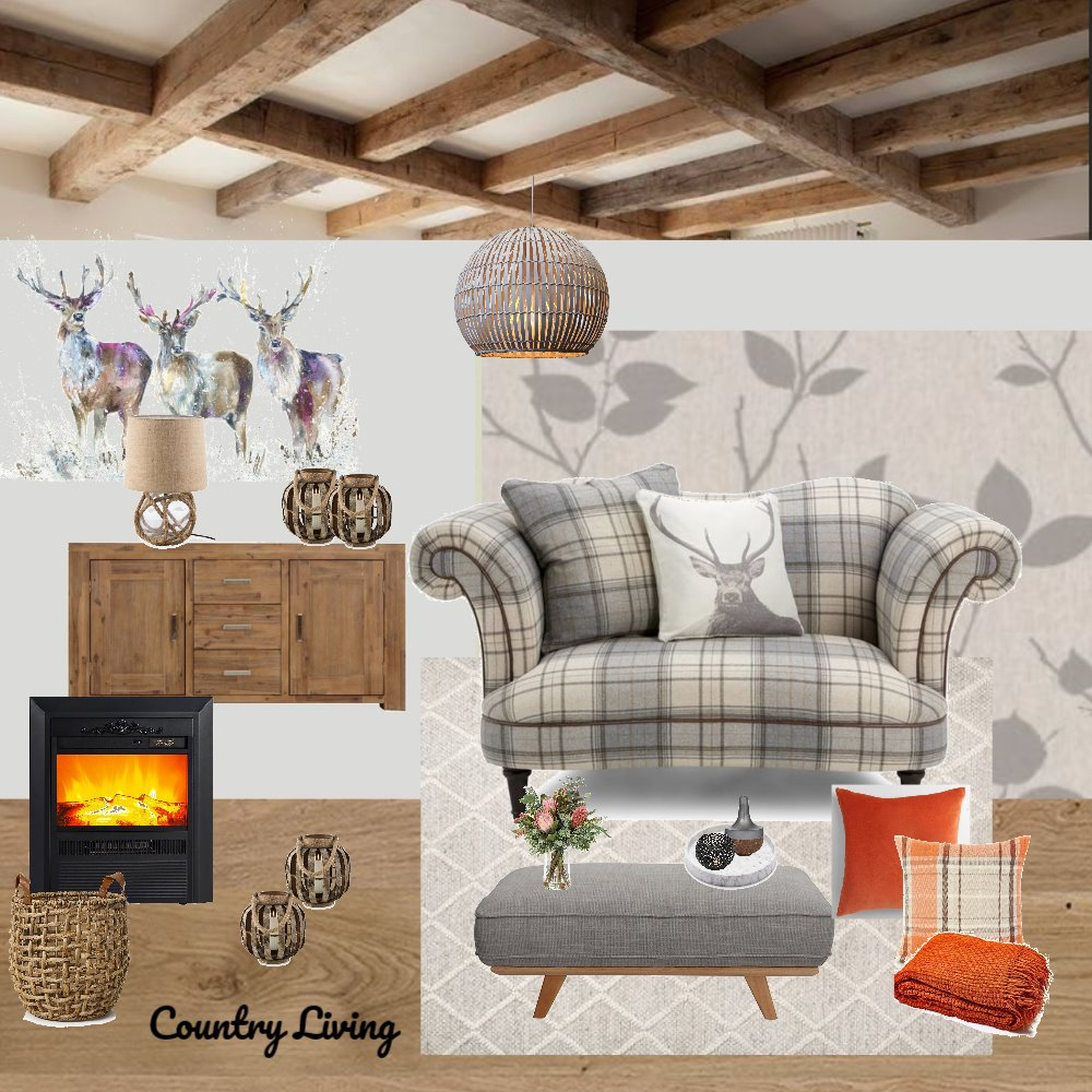 Country style Living room Interior Design Mood Board by Gina on Style Sourcebook