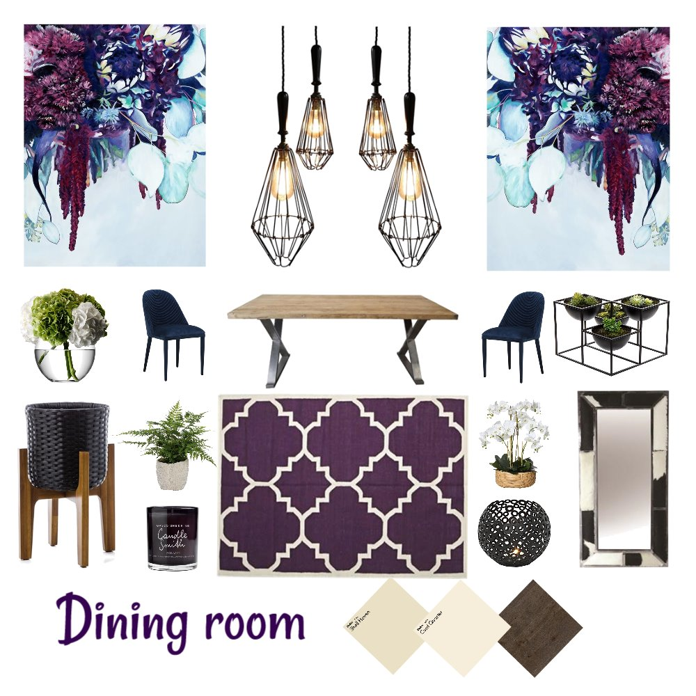 Dining room Interior Design Mood Board by Natalie V on Style Sourcebook