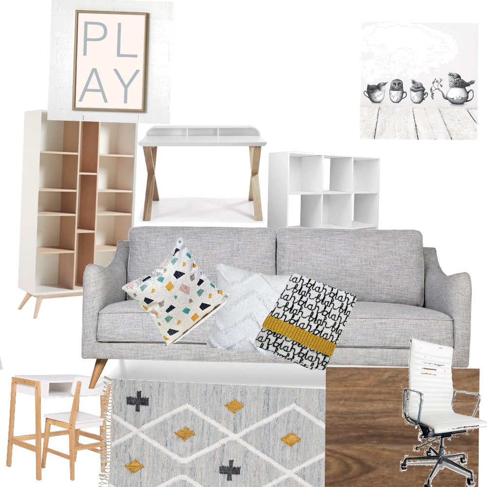 Office/playroom downstairs Interior Design Mood Board by Tansuff on Style Sourcebook