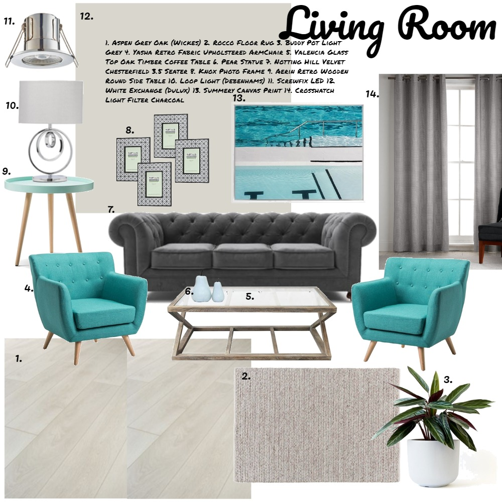 Living Room Interior Design Mood Board by shelleykingston on Style Sourcebook