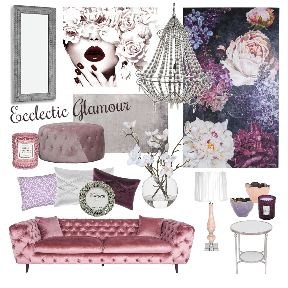 Ecclectic Glamour Interior Design Mood Board by AshleighDarling on Style Sourcebook