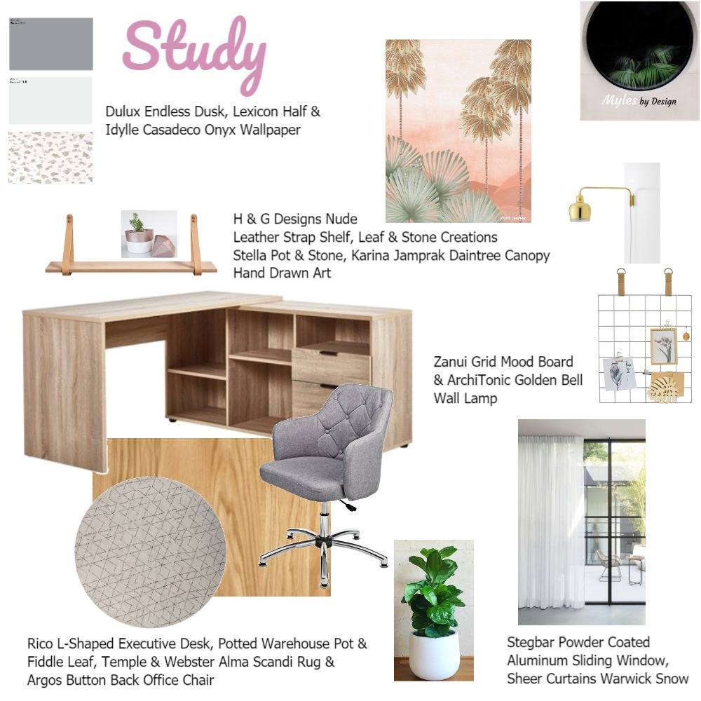 Study Interior Design Mood Board by StaceyMyles on Style Sourcebook