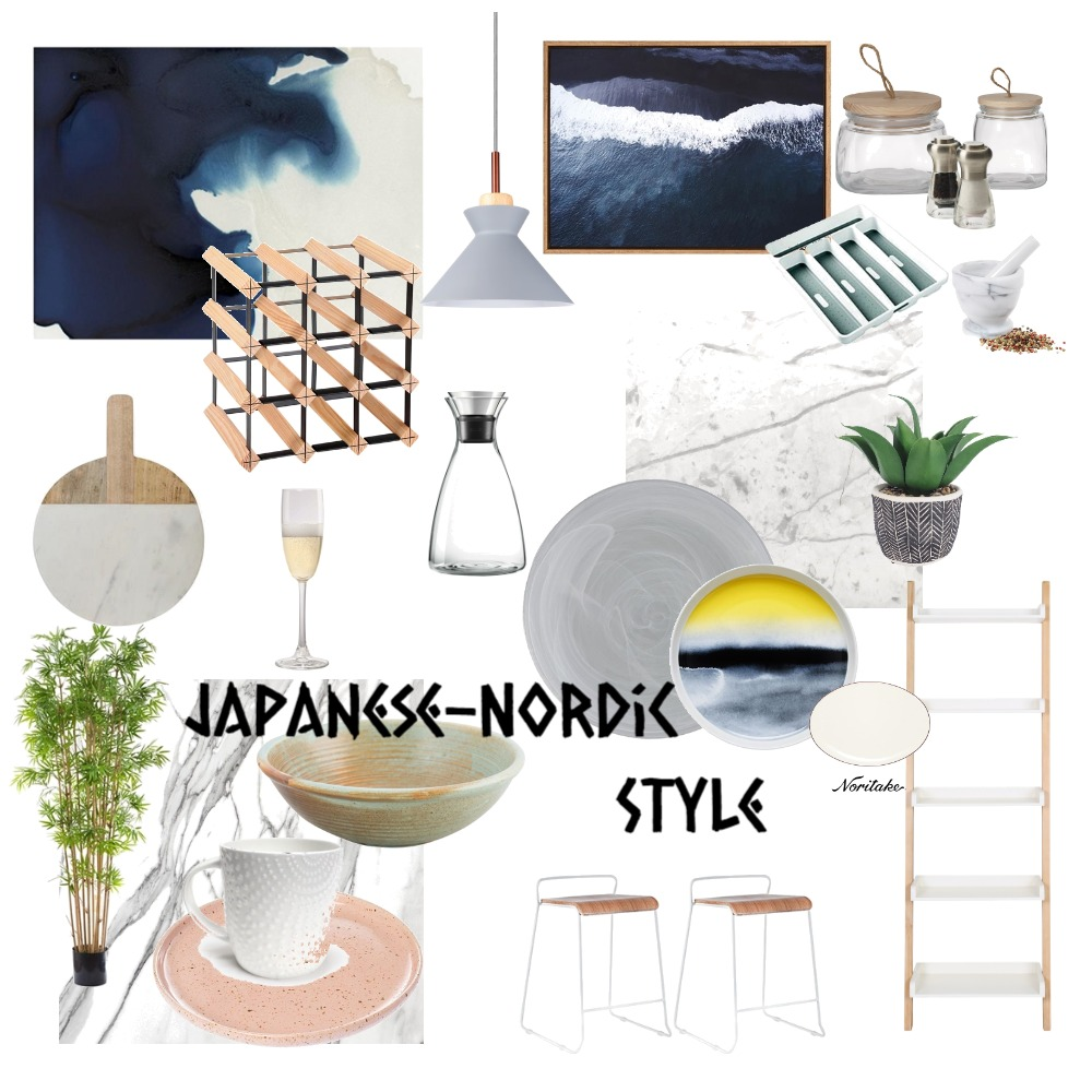 Nordic-Japanse Style Kitchen Interior Design Mood Board by travellinpanda on Style Sourcebook