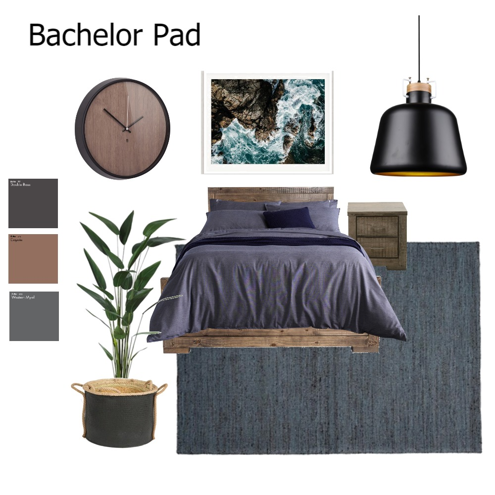 bachelor pad Interior Design Mood Board by Rebecca White Style on Style Sourcebook