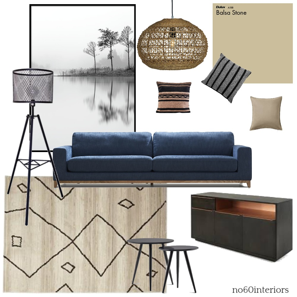 Blue sofa scheme Interior Design Mood Board by RoisinMcloughlin on Style Sourcebook