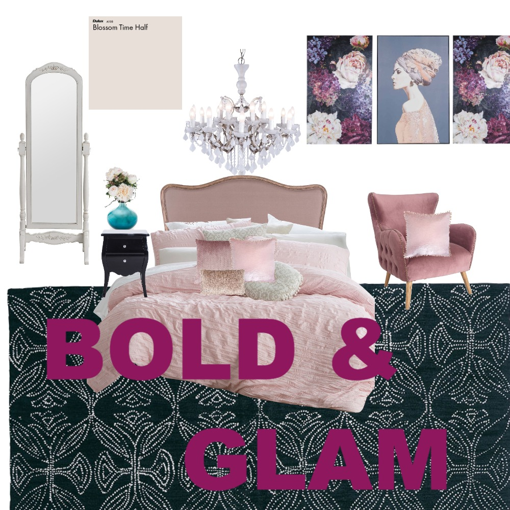 Bold and Glam Interior Design Mood Board by ShereeHillier on Style Sourcebook