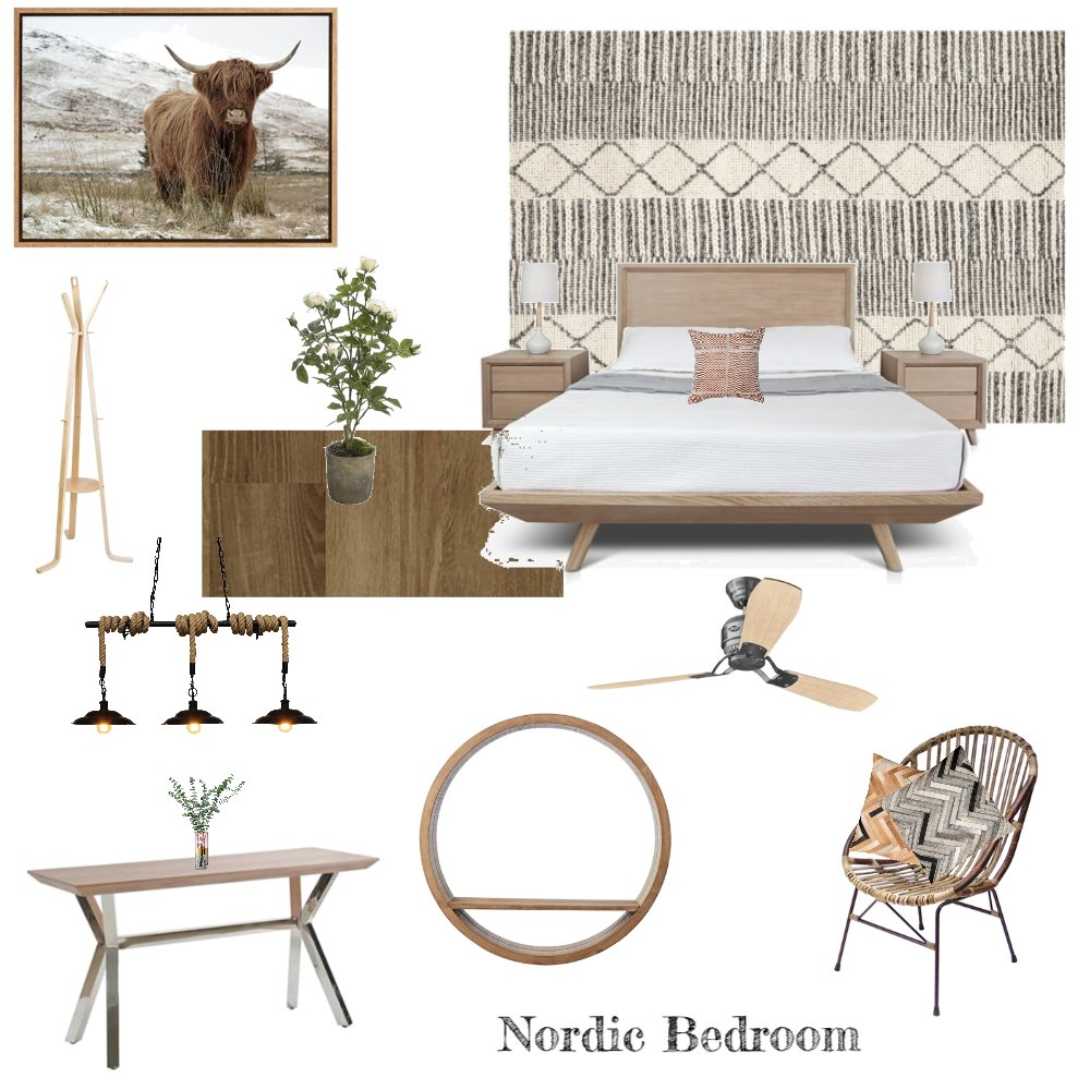 Nordic Bedroom Interior Design Mood Board by sarameredith on Style Sourcebook