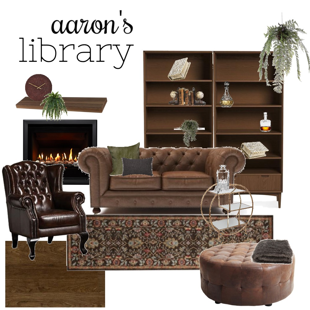 library Interior Design Mood Board by Aliciapranic on Style Sourcebook
