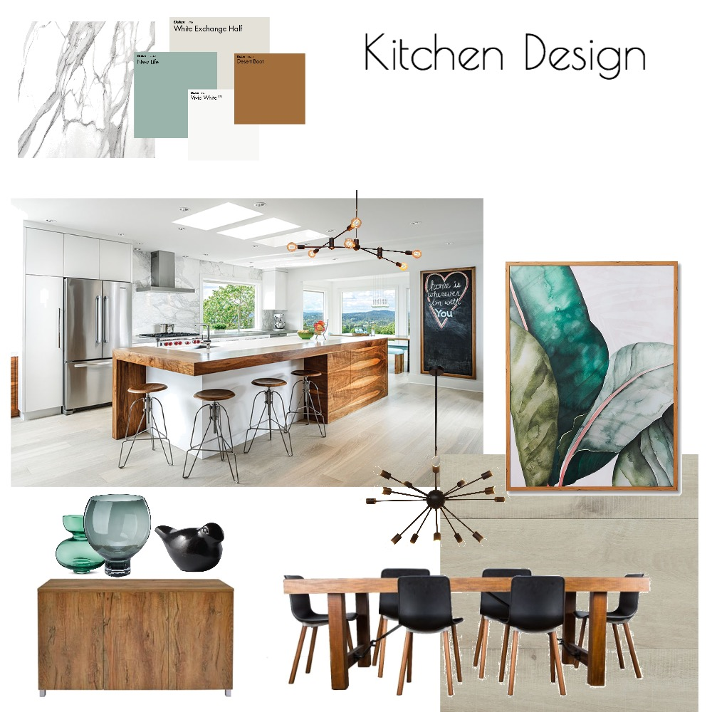 Kitchen Design Interior Design Mood Board by MODDEZIGN on Style Sourcebook