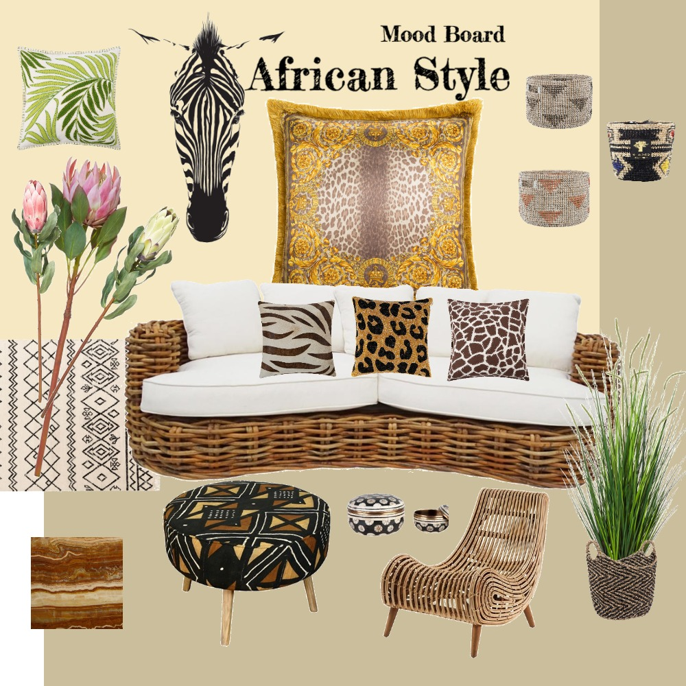 African decor Interior Design Mood Board by monklit on Style Sourcebook