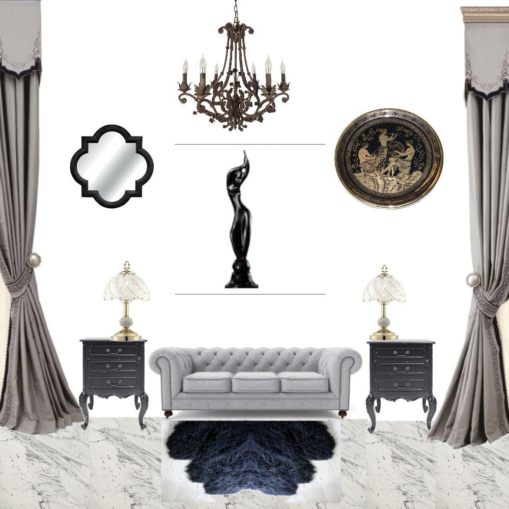 black Interior Design Mood Board by andelazd on Style Sourcebook
