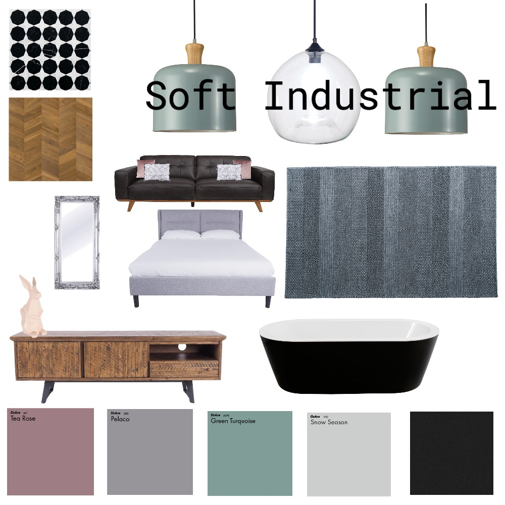 Soft Industrial Interior Design Mood Board by nonsense on Style Sourcebook