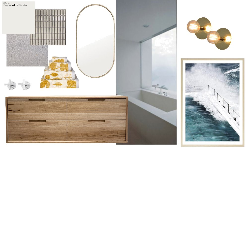 bathroom concept 2 part 1 Interior Design Mood Board by fransmith on Style Sourcebook