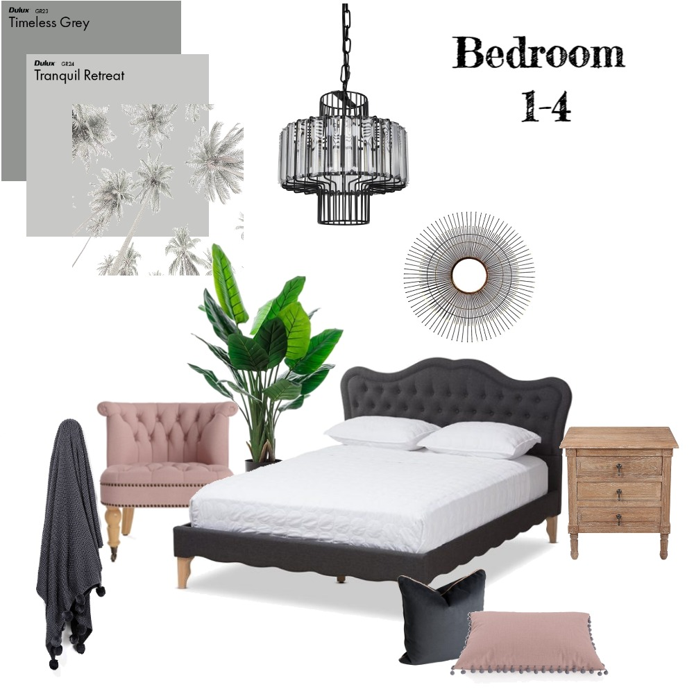 Bedroom 1 to 4 Interior Design Mood Board by JoSherriff76 on Style Sourcebook