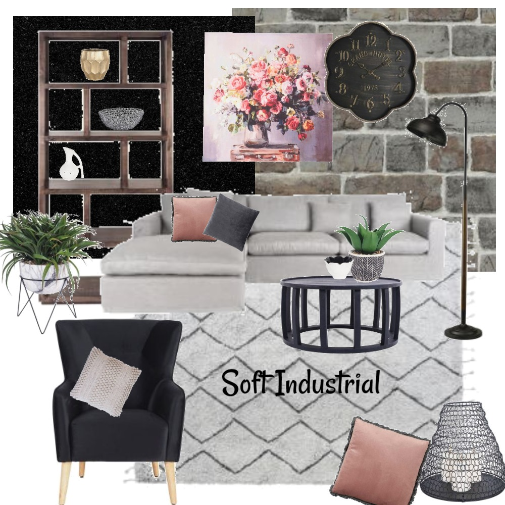 Soft Industrial Interior Design Mood Board by melbaxter on Style Sourcebook