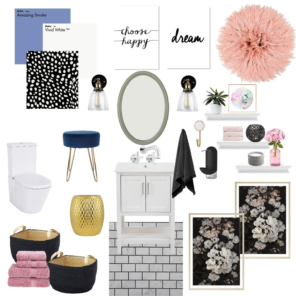 Half Bath Interior Design Mood Board by shandathomas on Style Sourcebook