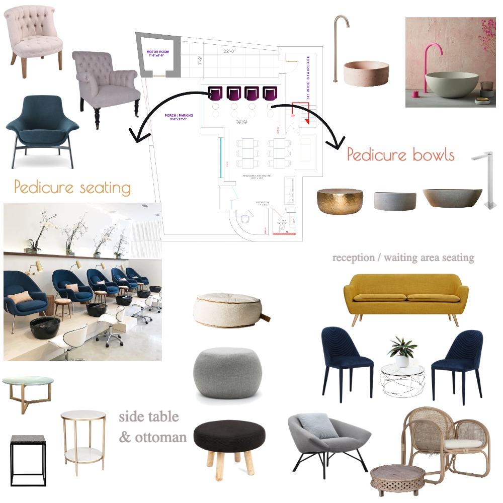 nail salon Interior Design Mood Board by koushika on Style Sourcebook
