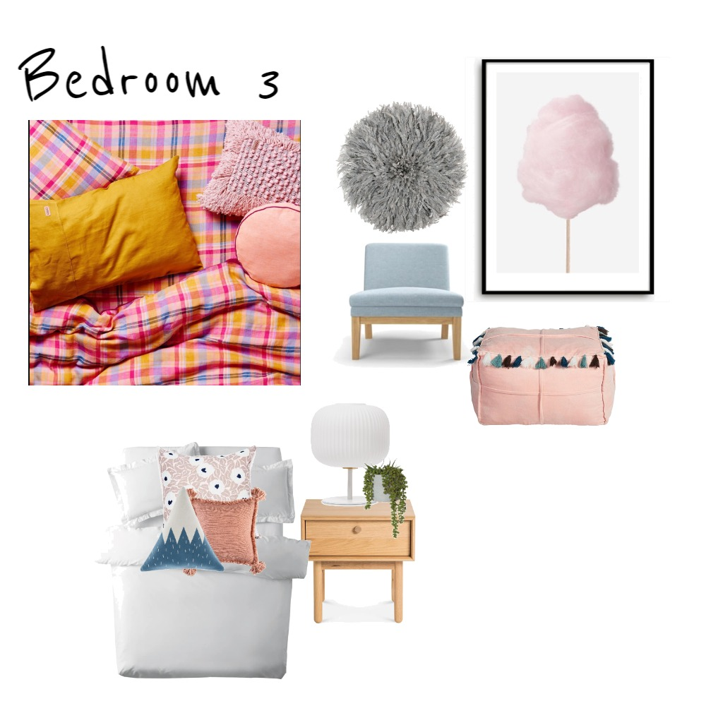 Belmont Bedroom 3 Girl Interior Design Mood Board by Marlowe Interiors on Style Sourcebook