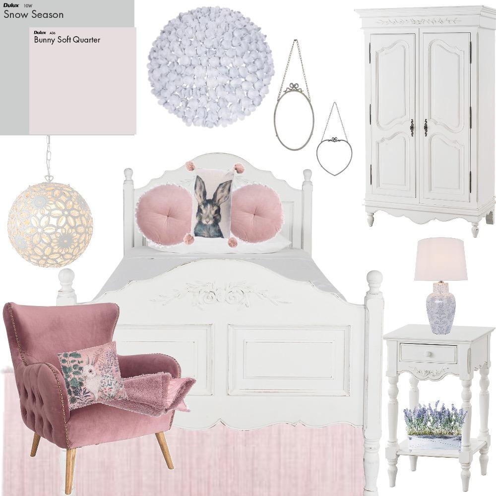 Pastel bedroom girl Interior Design Mood Board by tj10batson on Style Sourcebook