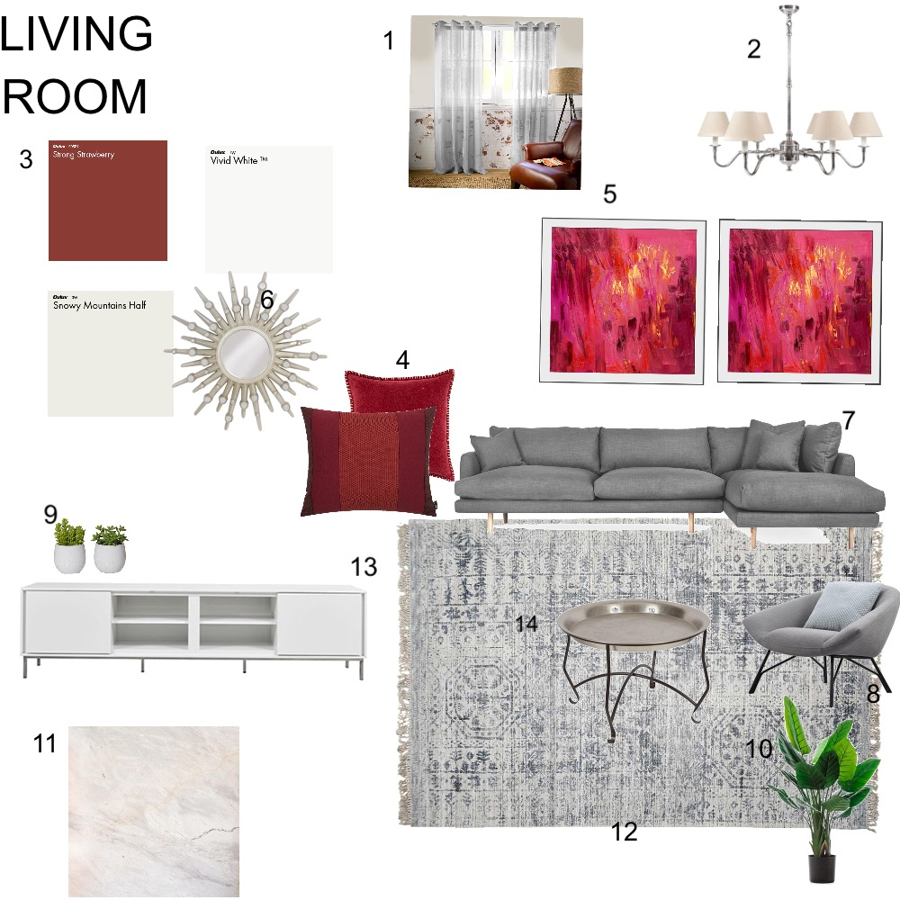 LIVING ROOM Interior Design Mood Board by Christina45 on Style Sourcebook