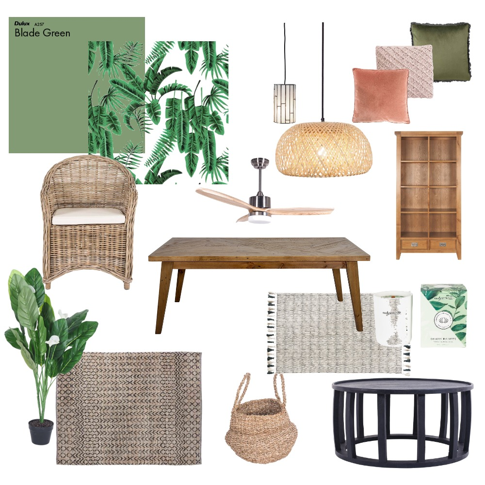 Tropical & Lush Interior Design Mood Board by nicolew on Style Sourcebook