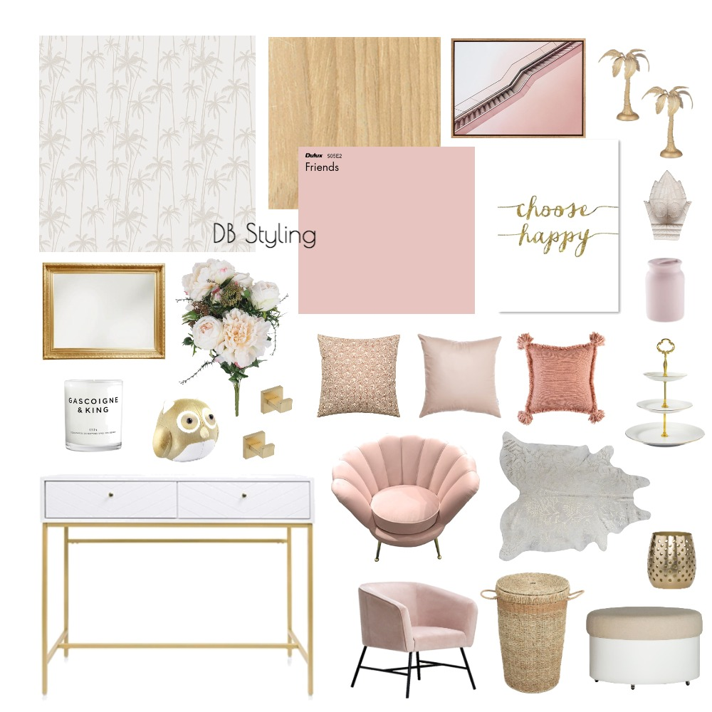 Pink Interior Design Mood Board by lucyvrvts on Style Sourcebook
