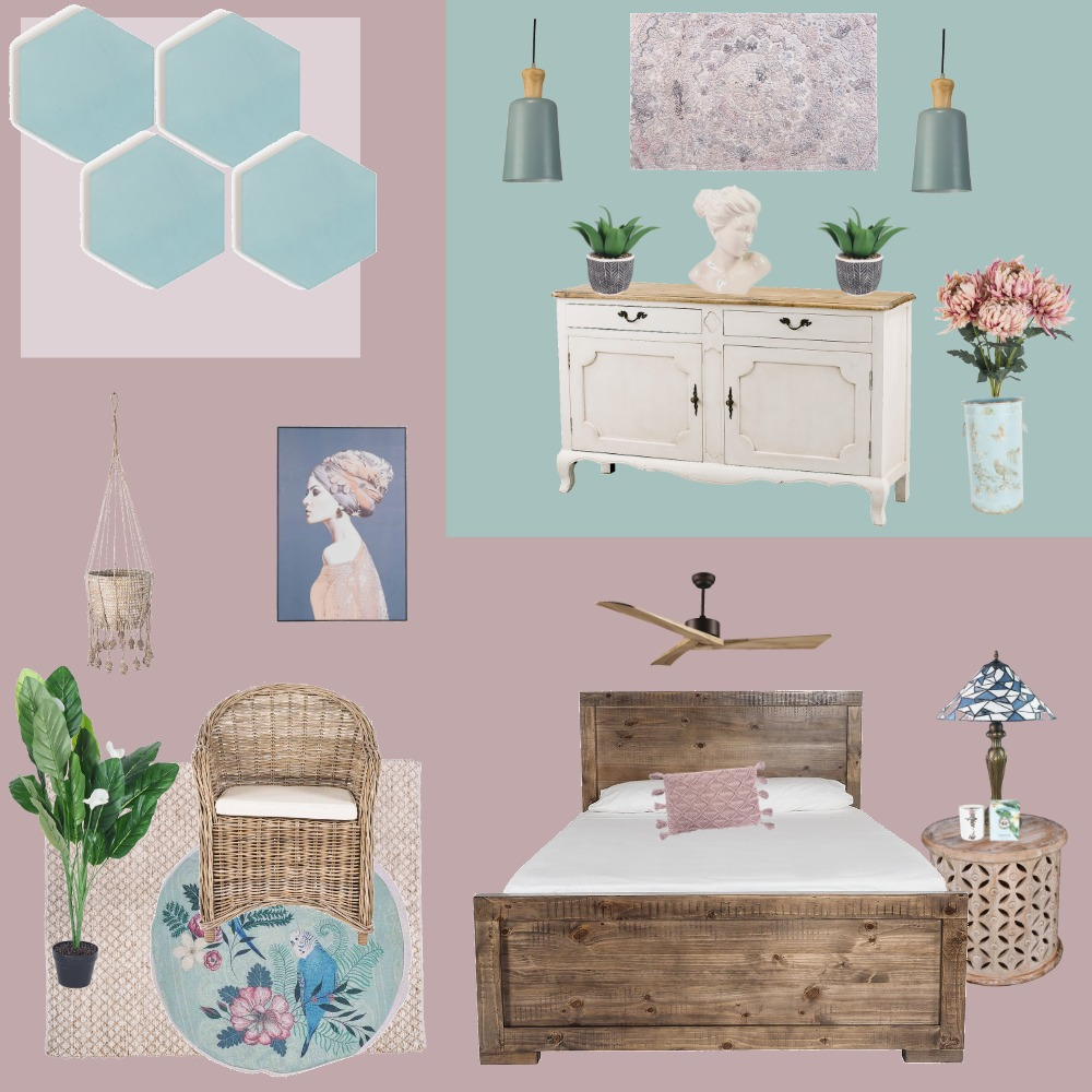 Pink sunrise over the teal ocean Interior Design Mood Board by BronteJ on Style Sourcebook