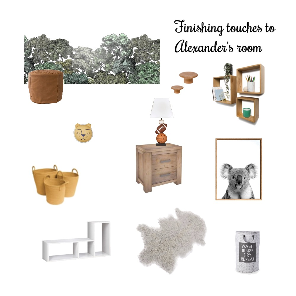 ALEXANDERS ROOM FINISHING TOUCHES Interior Design Mood Board by Jennypark on Style Sourcebook