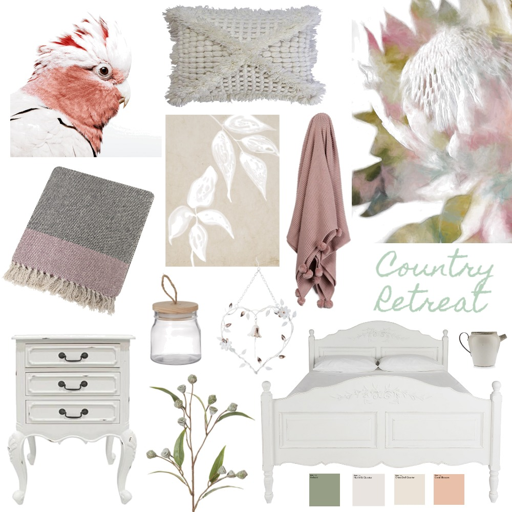 Country Retreat Interior Design Mood Board by bindeebel on Style Sourcebook