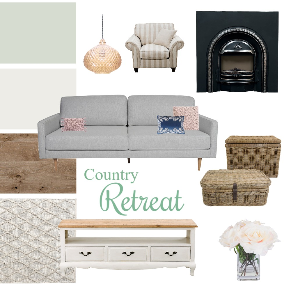 Country Retreat Lounge Interior Design Mood Board by ZamiraL on Style Sourcebook