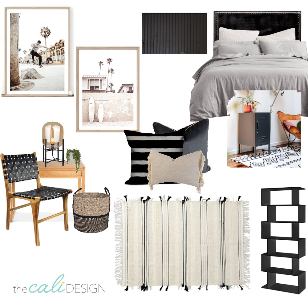 Max's Bedroom Option 1 Interior Design Mood Board by The Cali Design  on Style Sourcebook