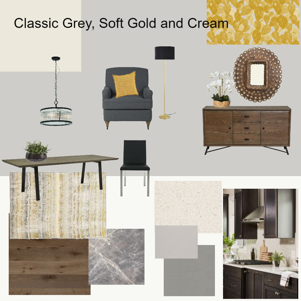 Classic Grey, Soft Gold and Cream Interior Design Mood Board by dorothy on Style Sourcebook