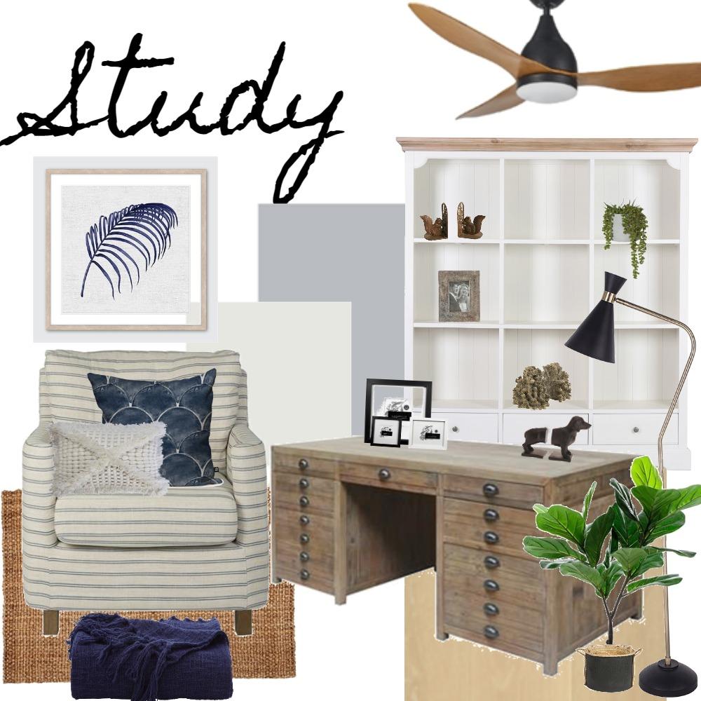 Cosy Coastal Study Interior Design Mood Board by LauraMcPhee on Style Sourcebook