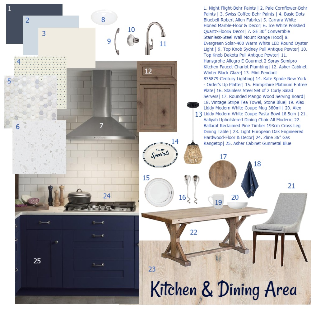 Modern Kitchen & Dining Area Interior Design Mood Board by KHirschi on Style Sourcebook