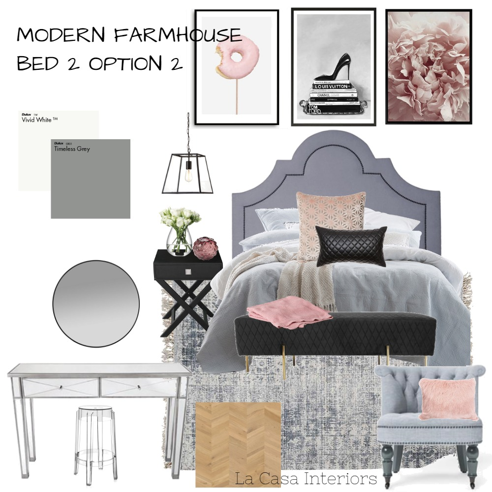 Farmhouse Bed 2 Option 2 Interior Design Mood Board by LaCasaInteriors on Style Sourcebook