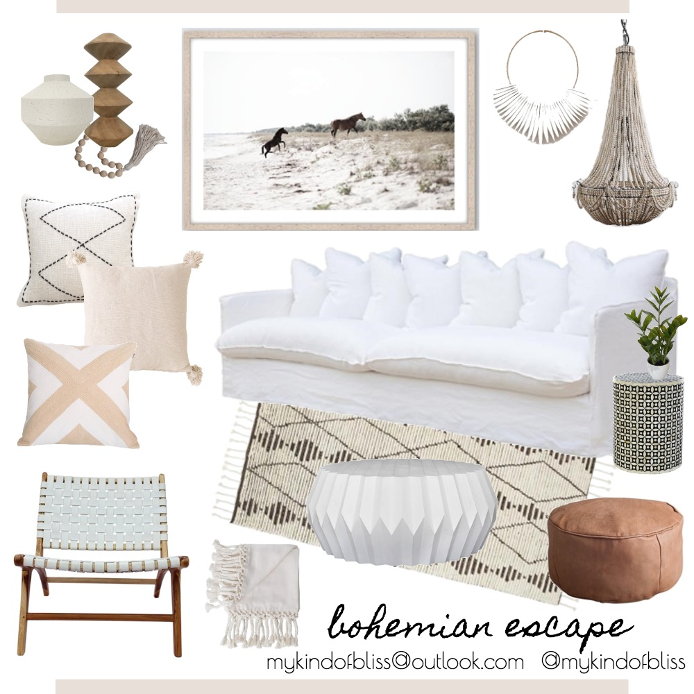 Bohemian Escape Mood Board by My Kind Of Bliss on Style Sourcebook