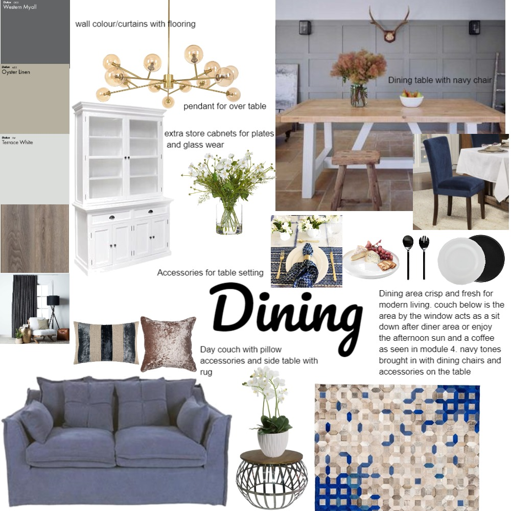dining Interior Design Mood Board by jenniferblake on Style Sourcebook