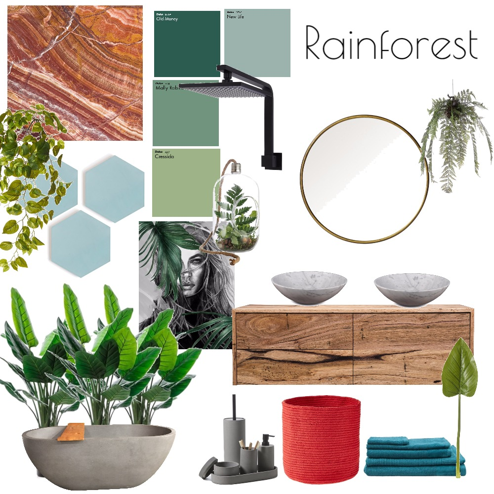 Rainforest Interior Design Mood Board by Bec_Waters on Style Sourcebook