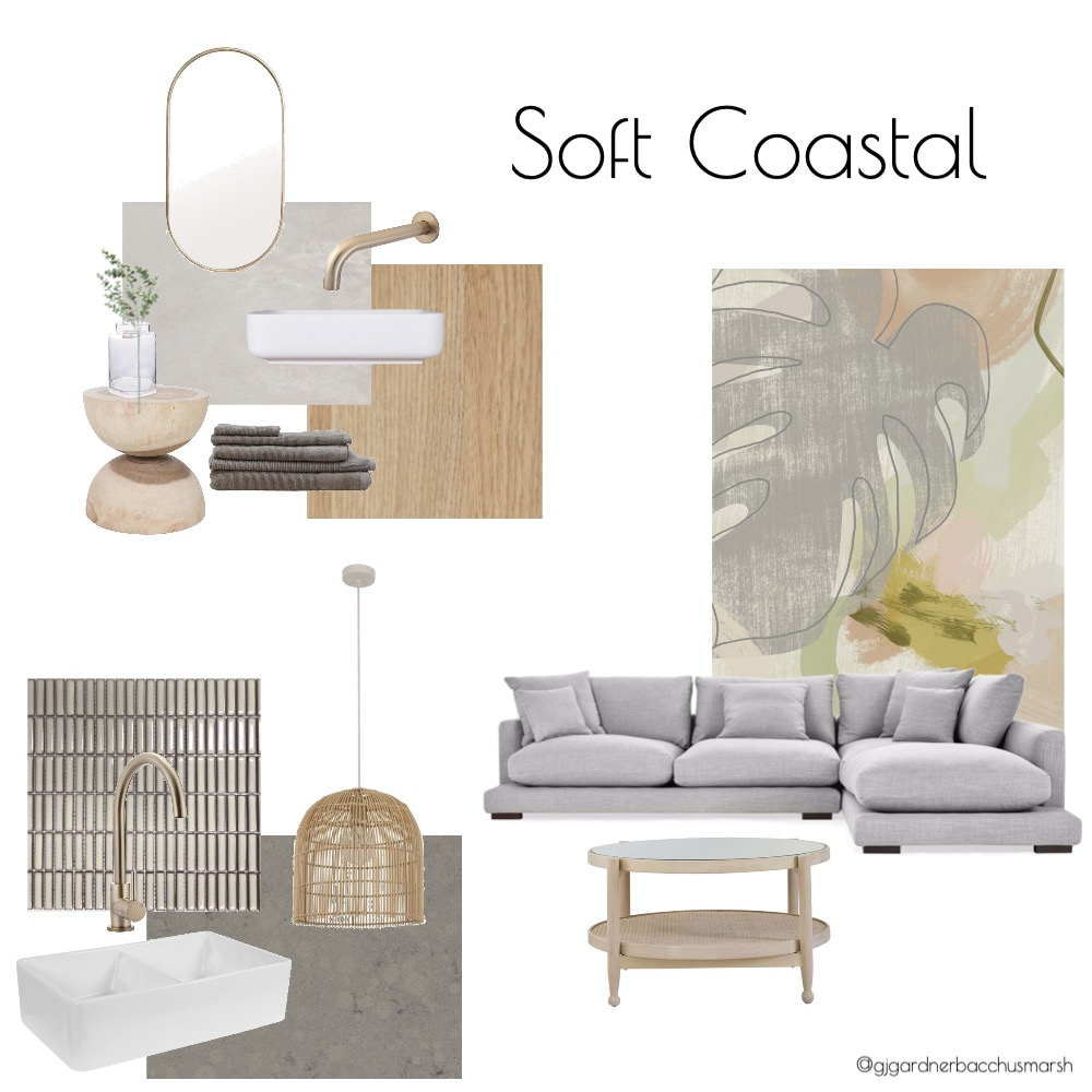 Soft Coastal Interior Design Mood Board by caitlinhamston1992 on Style Sourcebook