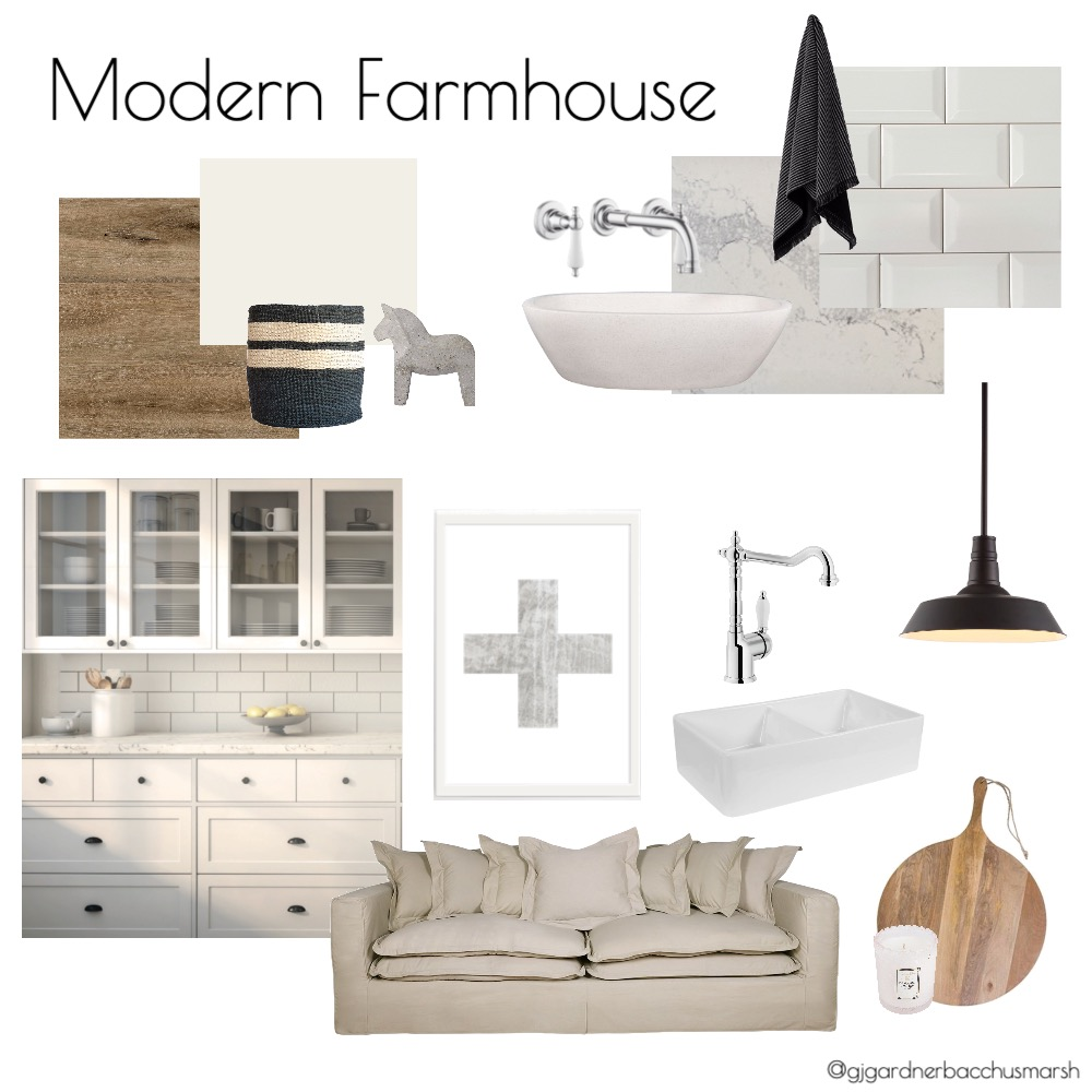 Modern Farmhouse GJ Interior Design Mood Board by caitlinhamston1992 on Style Sourcebook
