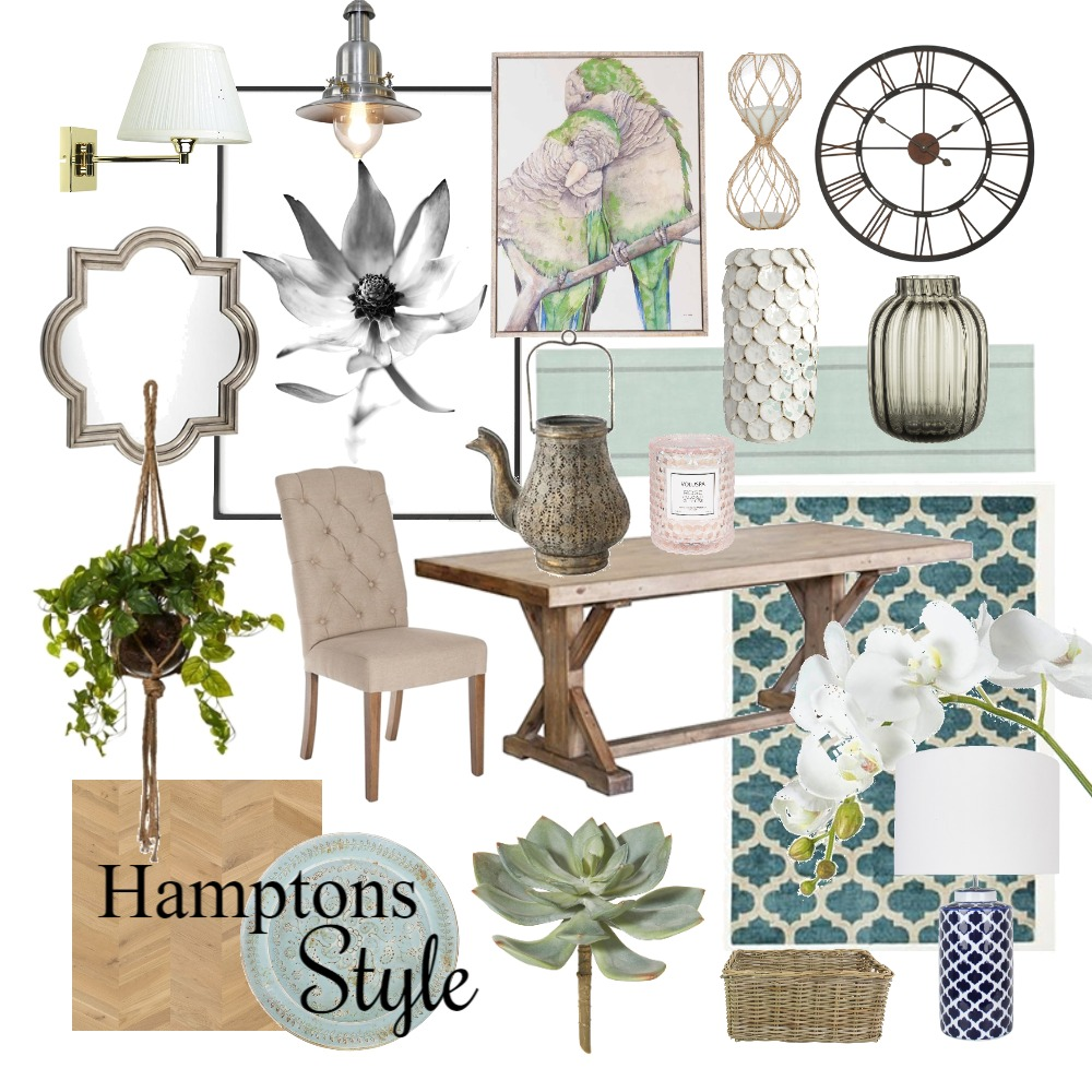 Hamptons Style Interior Design Mood Board by idesequera on Style Sourcebook