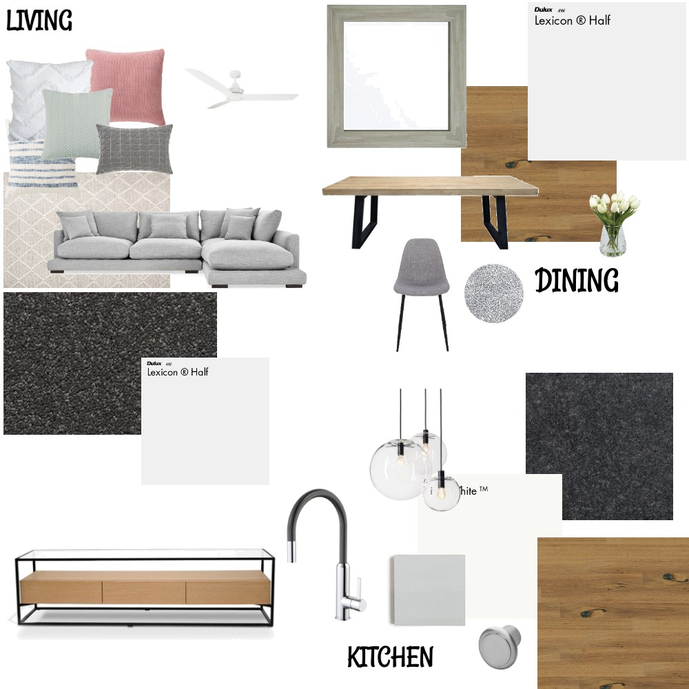 Kitchen, Living, Dining Interior Design Mood Board by panderson on Style Sourcebook