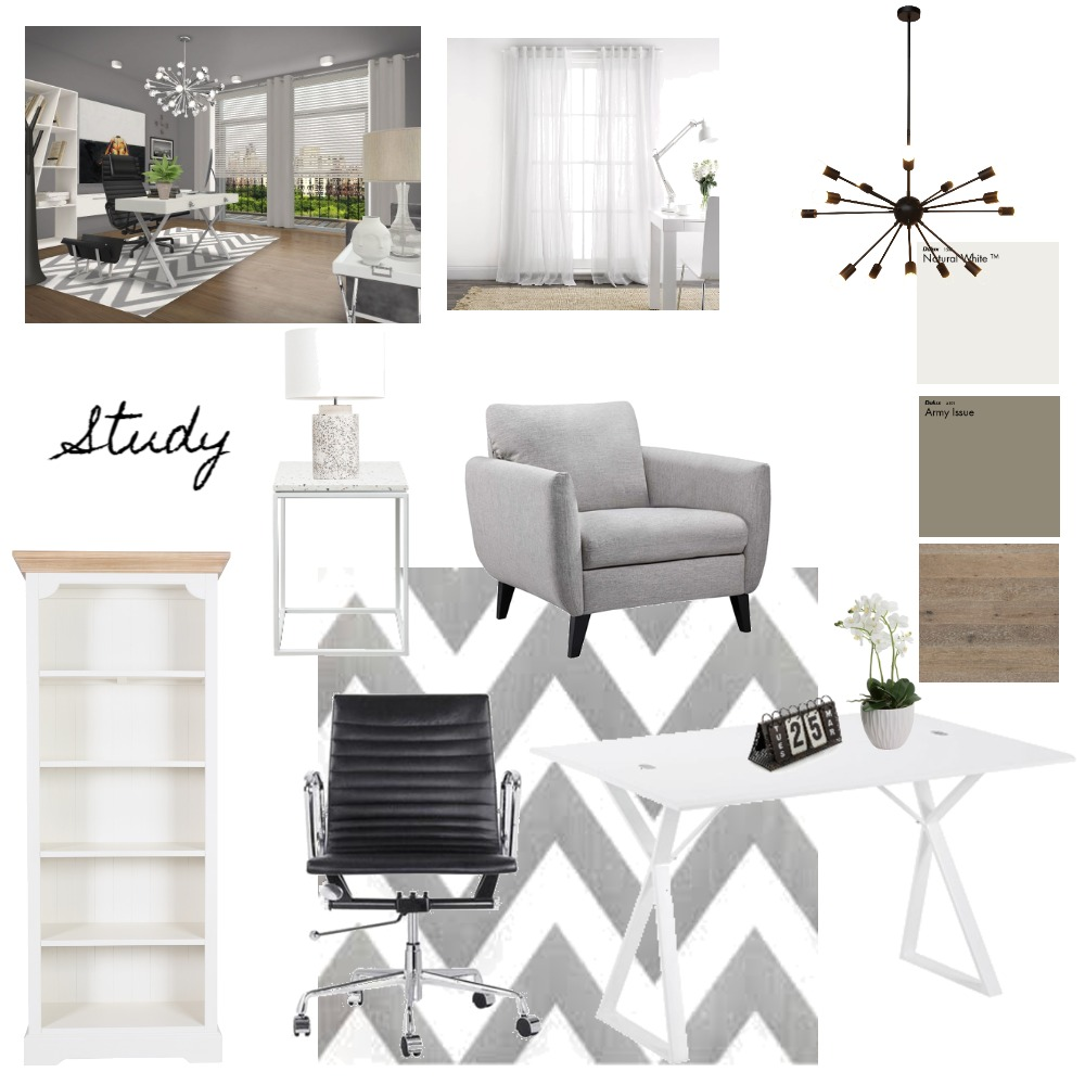 Achromatic Colour Scheme Interior Design Mood Board By Marlitia Style Sourcebook