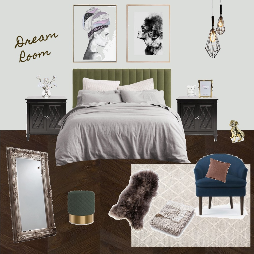 Dream Room Interior Design Mood Board by Ainsleigh on Style Sourcebook