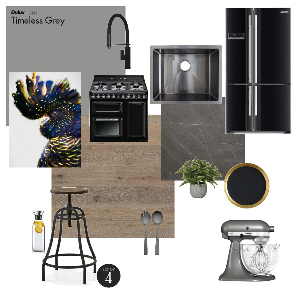 Soft Industrial Kitchen mood board Interior Design Mood Board by saffy24 on Style Sourcebook