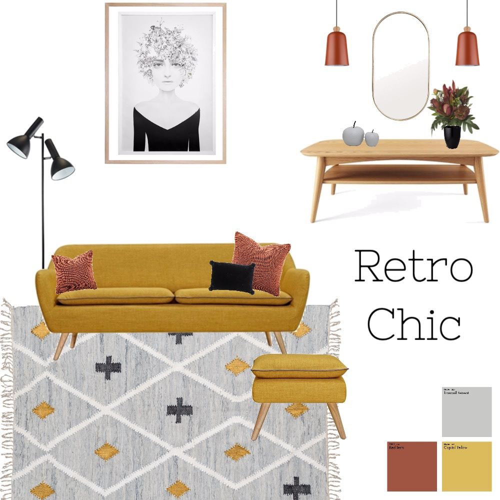 retro chic Interior Design Mood Board by imogenmanning on Style Sourcebook